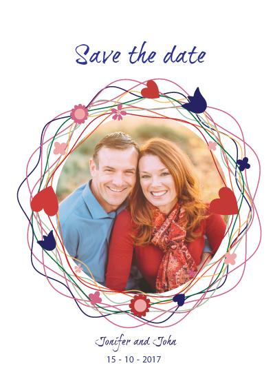 save the date cards - John&Joni by Retroactive Studios