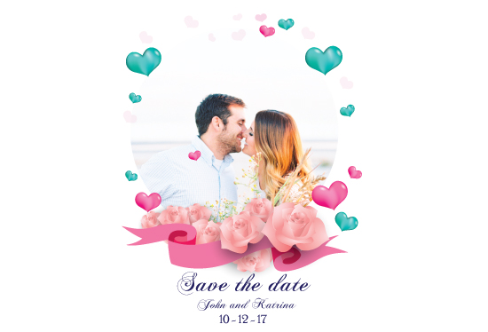 save the date cards - Love is all around by Retroactive Studios