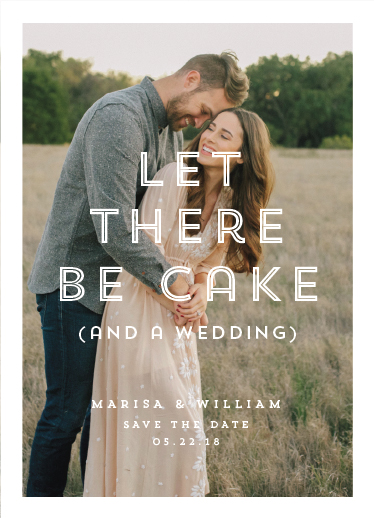 save the date cards - Cake (and a Wedding) by Up Up Creative