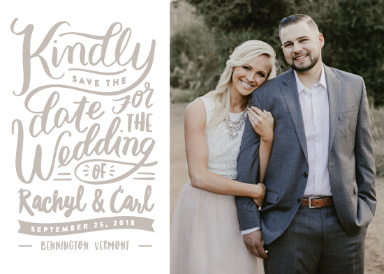 save the date cards - Handlettered Love by Carrie ONeal