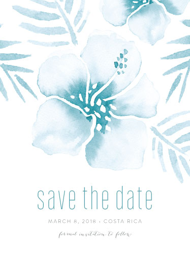 save the date cards - Tropical Hibiscus by Smudge Design