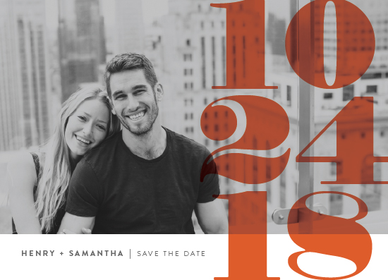 save the date cards - Numerals by Up Up Creative