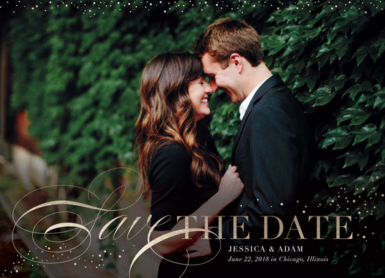 save the date cards - glittering day by Erin Deegan
