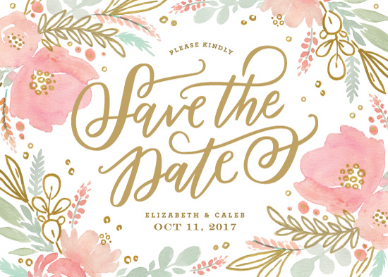 save the date cards - Floral Vignette by Kristen Smith