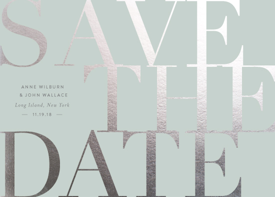 save the date cards - the big classic by Sara Hicks Malone