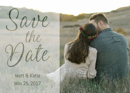 save the date cards - Faded Script by Dalu Design