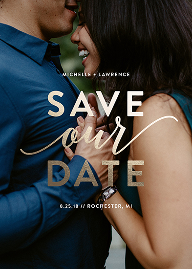 save the date cards - Our Script by Genna Cowsert