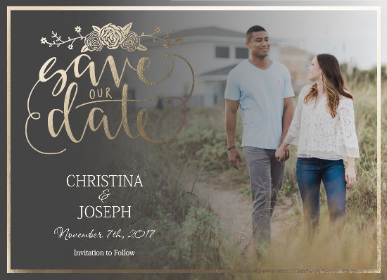 save the date cards - Rosebuds by Christy Platt