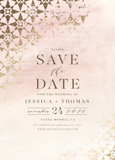 save the date cards - distressed tile by Carolyn Nicks