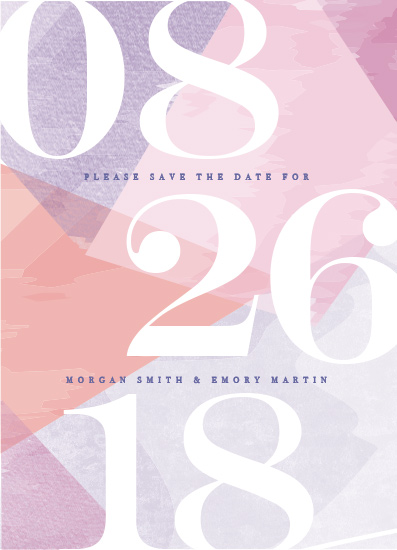 save the date cards - wash of color by Karidy Walker