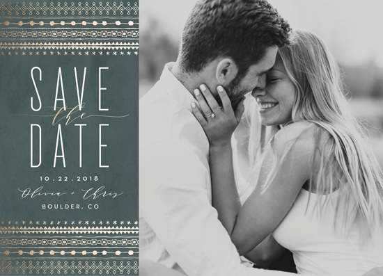 save the date cards - boho glam by Carolyn Nicks