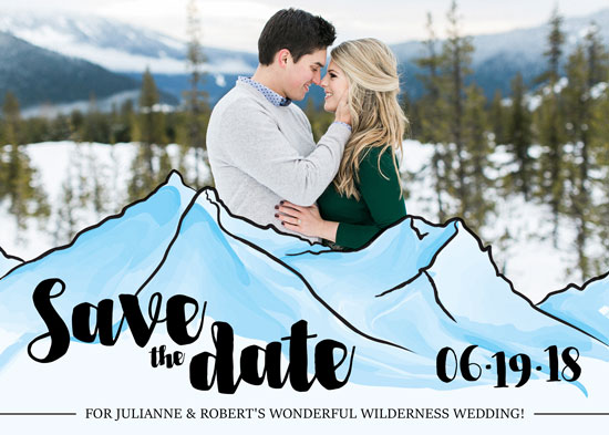 save the date cards - Wilderness destination by Viper Paper Co.