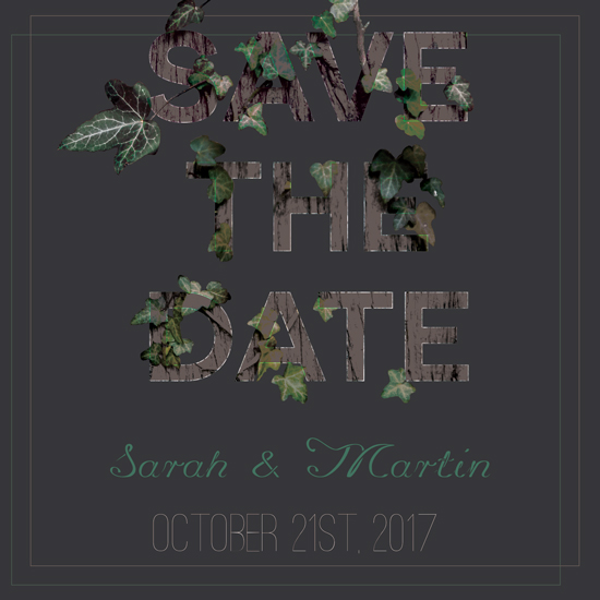 save the date cards - Through the Trees by Katherine Soares