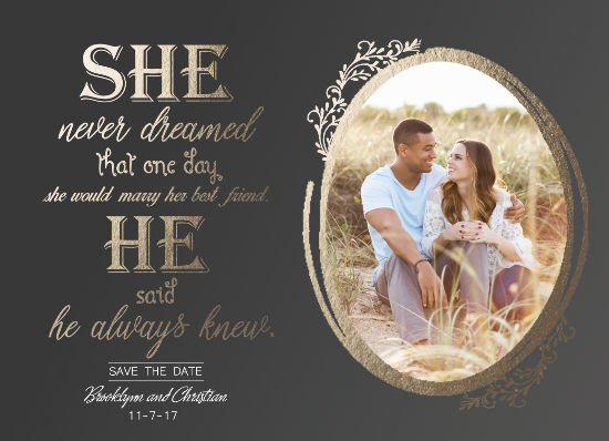 save the date cards - She Said He Said by Christy Platt