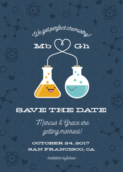 save the date cards - Chemistry Love by Coco and Ellie Design