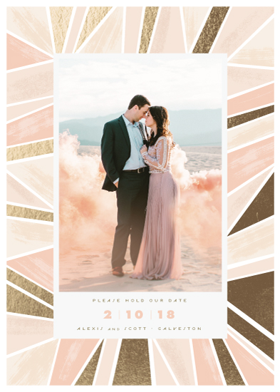 save the date cards - modern angles by Rebecca Durflinger