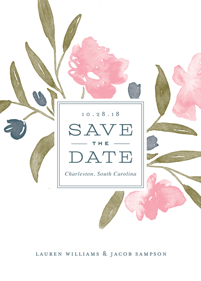 save the date cards - Watercolor Bouquet by Oscar & Emma