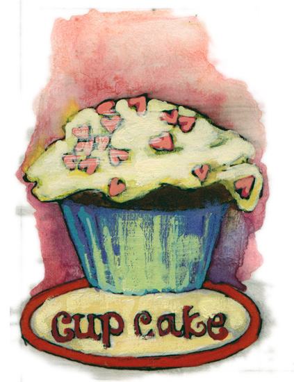 valentine's day - cupcake by Cleo Papanikolas