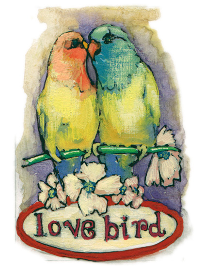 valentine's day - lovebird by Cleo Papanikolas