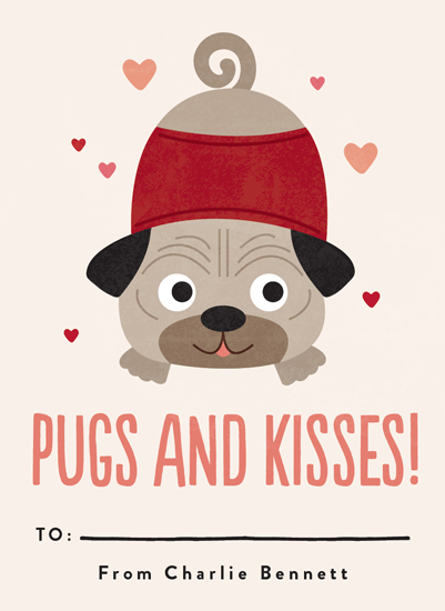 valentine's day - Pugs & Kisses by Erica Krystek