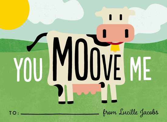 valentine's day - You Moove Me by Erica Krystek