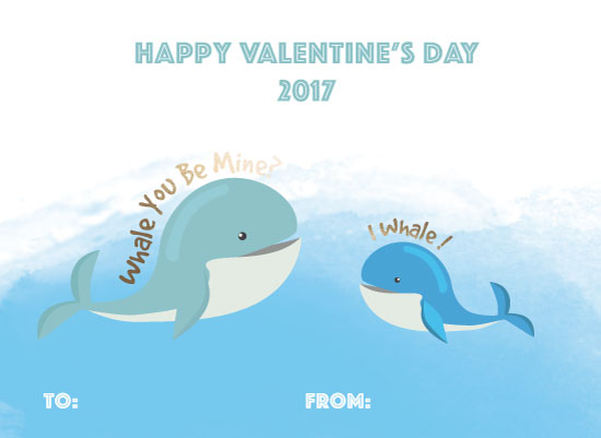 valentine's day - Whale Valentine by paperie and ink