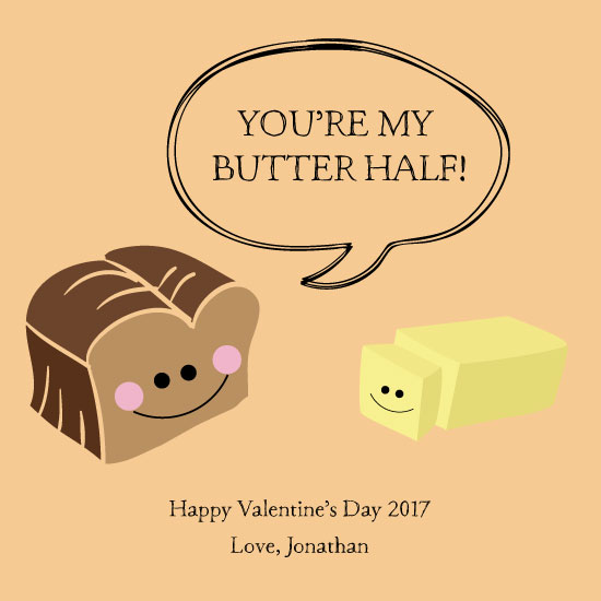 valentine's day - You're My Butter Half by paperie and ink