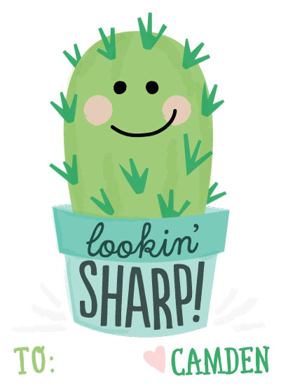 valentine's day - Cute Cactus by Jessie Steury