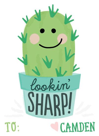 valentine's day - Cute Cactus by Jessie Steury