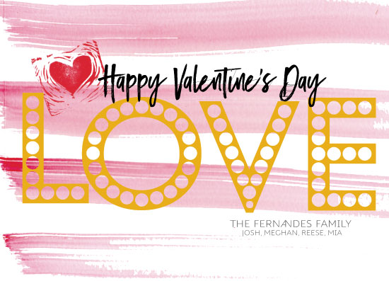 valentine's day - LOVE Marquee by jeanne smith