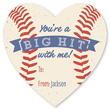 valentine's day - Baseball Hit by Allison Kizer