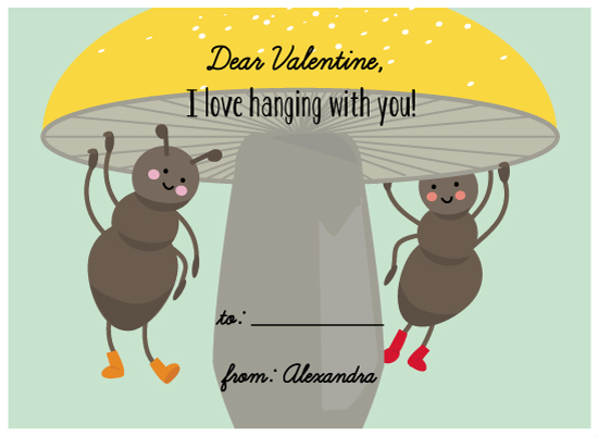 valentine's day - Hanging ants by Agnes Magai