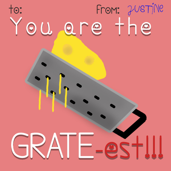 valentine's day - Grate-est by Justine Duncan