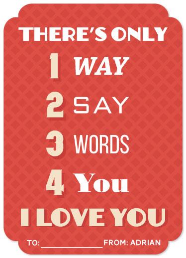 valentine's day - 1234 LOVE by Adrian Remedio