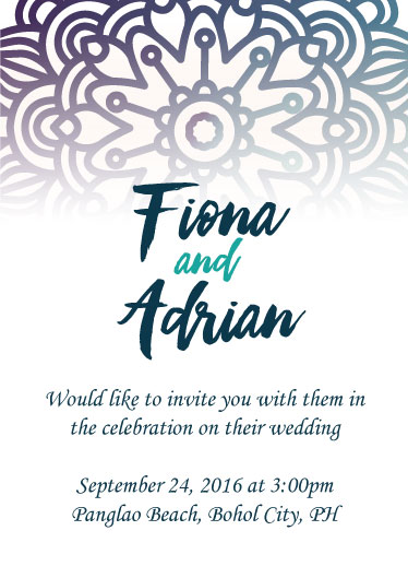 wedding invitations - Simple Floral Pattern by Adrian Remedio