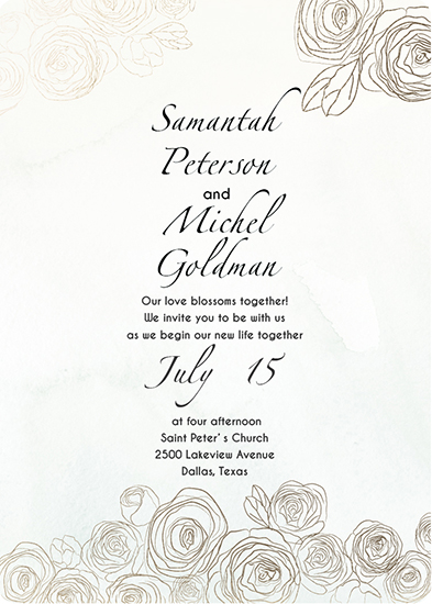 wedding invitations - flowers card by holaholga