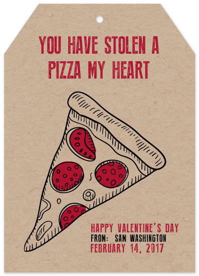 valentine's day - You've Got A Pizza My Heart! by paperie and ink