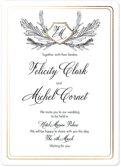 wedding invitations - Classic card by holaholga