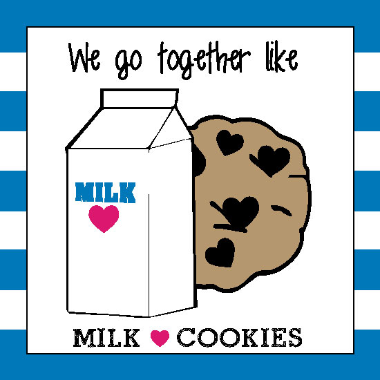 valentine's day - Milk and Cookies by Bronwyne Carr Chapman