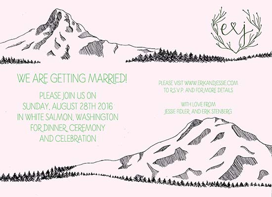wedding invitations - As Far As the Eyes Can See by Marieke Fidler
