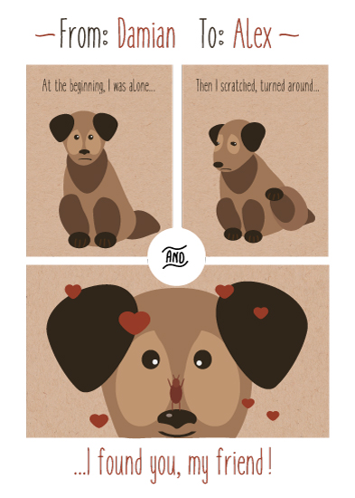 valentine's day - Doggy friendship by Kristina Me