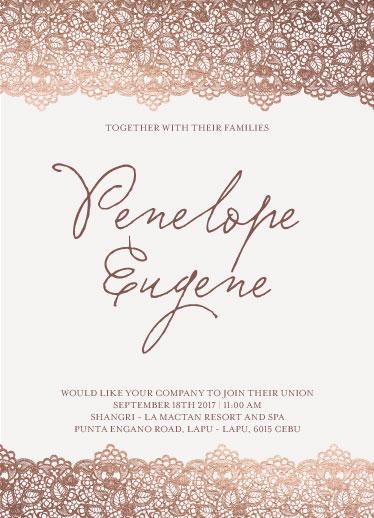 wedding invitations - Vintage Love by Penelope Eden