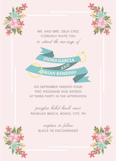 wedding invitations - Floral Flag by Adrian Remedio