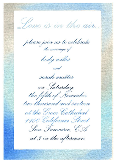 wedding invitations - Love is in the Air by Marieke Fidler