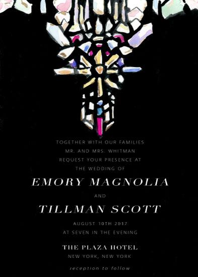 wedding invitations - Crystal Grid by Emily Gill