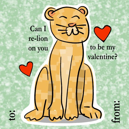 valentine's day - Lion Love by LD Gonzalez
