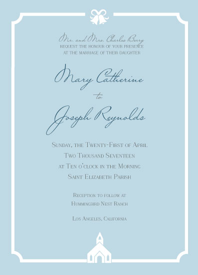 wedding invitations - Little White Church by Anne Gaines