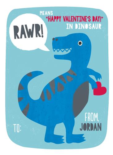 valentine's day - T-Rex RAWR by Kristen Cavallo