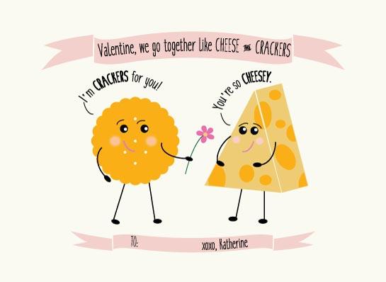 valentine's day - Cheese and Crackers by Sarah Tarantino