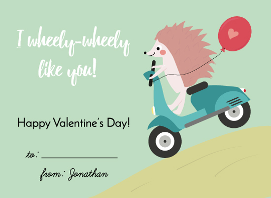 valentine's day - Wheely hedgehog by Agnes Magai